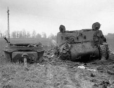 A Sherman M4A3E2, 743rd Tank Battalion,November 1944.This tank was knocked out near Fronhoven in late November 1944 after being hit by a 88mm Flak antitank gun about 800 yards away near Lohn.