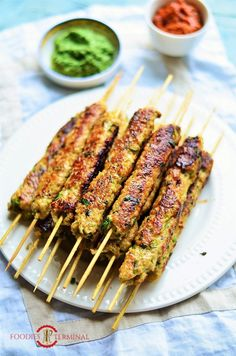 Make this quick & easy chicken seekh kabab on a griddle. This easy chicken appetizer recipe is an ideal party food. For such easy recipes follow my blog @foodiesterminal.com #chickenseekhkabab #chickenkabobs #kabobrecipes #grillingrecipes #kabobsintheoven #grilledchickenrecipes #summerrecipes #indianrecipes #indiankabab #foodiesterminal Seekh Kabab Recipe Chicken, Seekh Kebab Recipes, Chicken Keema, Kabob Recipes, Grilling Recipes, Meat Recipes, Indian Food Recipes, Appetizer Recipes, Recipies