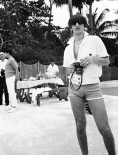 Ringo with his tight bathing suit, which back in the day, that was the style!