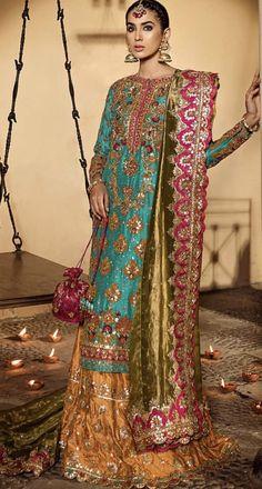Look 4 – Ammara Khan Shadi Dresses, Pakistani Formal Dresses, Pakistani Fashion Casual, Pakistani Wedding Outfits, Pakistani Wedding Dresses, Nikkah Dress, Pakistani Dress Design, Pakistani Mehndi Dress, Designer Party Wear Dresses