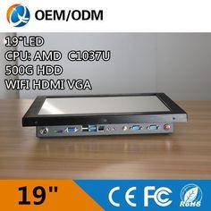 'Endüstriyel pc bilgisayar all in one pc dokunmatik ekran Ile Resolution1280x1024 C1037U 1.8 GHz Kurulum gömülü/masaüstü