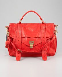 proenza schouler ps1 medium satchel in bright red. yes it's $1600. yes i'm drooling.