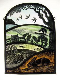 """Allotment of Plenty"" by stained glass artist Tamsin Abbott"