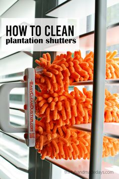 How to clean plantation shutters + fall cleaning list www.thirtyhandmadedays.com