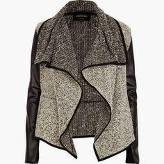 Black Leather Cardigan. #fall #must