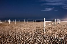 Beach Volleyball Courts Photograph  - Beach Volleyball Courts Fine Art Print