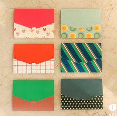 6 pcs/lot 6 Designs Paper Envelope Cute Mini Envelopes Vintage European Style For Card Scrapbooking Gift Free shipping(China (Mainland))