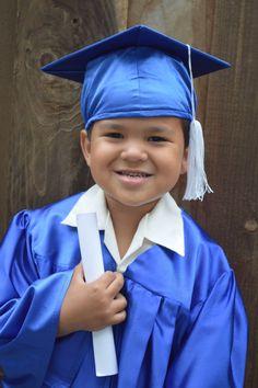 Emma in her cap and gown, preschool graduation | Photos of mine ...