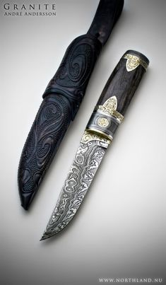Granite by Andre Andersson Custom Damascus Knives - Knives, Daggers, Swords and…
