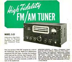 Hallicrafters S-31 AM/FM Tuner, 1941