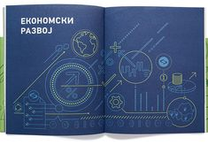 Illustration and graphic design of Annual Report and Report on Sustainable Development for NIS