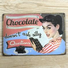 NEW Arrivals chocolate sexy lady  metal Tin signs  UA-0033  home decor bar Vintage plate wall art craft metal painting  20X30 CM