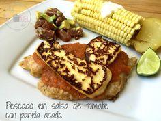 La Lola Dice: Pescado en salsa de tomate con panela asada