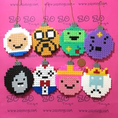 Adventure Time Christmas Pixel Baubles via Zo Zo Tings. Click on the image to see more!