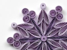 Snowflake Purple, Quilled Handmade Art, Paper Quilling, Home Decoration Idea, Christmas Tree Decor, Winter Ornaments. You can hang it on Christmas tree, use as fridge magnet, decorate Your bookshelf, dinner table or put it in lovely frame. Also can make an excellent addition to Christmas presents! Dimensions of one snowflake - 3 ″ x 3 ″ (8 cm x 8 cm) - a nickel (5 cent coin) for scale. Made from 1/4 ″ (5 mm) paper strips of 90 g/m2 paper.