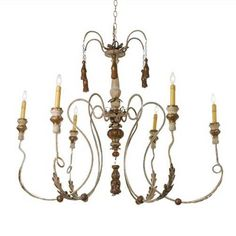 A delicate chandelier in our French Countryside collection. Customization available.