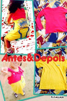 Diy roupa feita com 2camisetas :)  #diy #himatsubushi