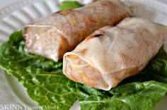 SKINNY state of mind: Baked Chicken and Vegetable Spring Rolls