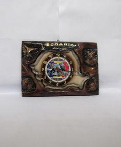 Placheta harta Romaniei cu ceas-IV Class Ring, Bookends, Jewelry, Home Decor, Souvenir, Jewlery, Decoration Home, Bijoux, Room Decor