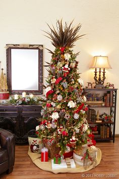 elegant christmas dcor that i would do more smaller flags and definitely some lights - Rustic Elegant Christmas Decor