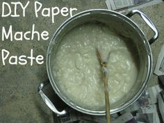 How to Make Paper Mache Paste - Blissfully Domestic