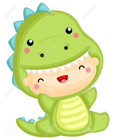 a cute baby wearing a dinosaur costume Stock Vector - 112508623 Die Dinos Baby, Baby Dinosaurs, Cute Dinosaur, Dinosaur Party, Cartoon Pics, Cute Cartoon, Dinosaur Costume, Baby Party, T Rex