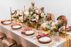 La Tavola Fine Linen Rental: Tuscany Mustard Table Runner with Tuscany Sienna Napkins | Photography: Sanaz Photography, Event Production: Be Inspired PR, Florals: FiftyFlowers.com, Tabletop Rentals: Borrowed Blu, Rentals: Collective Rentals & Design, Place Cards and Stir Sticks: Delovely Details