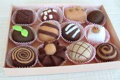 My Latest Box of Felt Chocolates | Flickr - Photo Sharing!