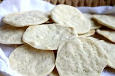 Unleavened bread is bread made without leavening agents (ingredients that cause fermentation to occur) such as yeast, baking soda, baking powder. More people are becoming interested in baking communion bread for their congregation. This is a work the ladies can do and start a monthly rotation. It really is so simple, and this is a great recipe!