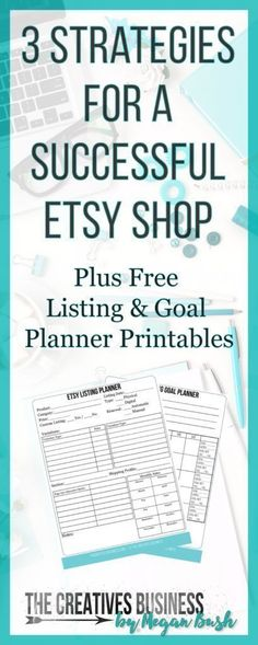 No Etsy store sales? Think you should be doing better? I am here to help you with 3 Strategies for a Successful Etsy Store. I share with you three tweaks you can make to your Etsy shop to get more customers and increase your sales. They work for me and lots of others and can work for you too. Also included are FREE LISTING & GOAL PLANNER Printables in downloadable PDF form you can print and use to help you on your journey. Check it or repin for later at: http://www.thecreativesbusiness.com