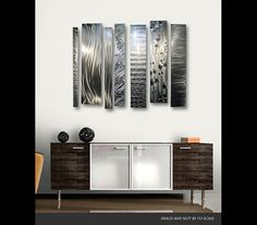 Divided Unison abstract large metal art by Jon Allen