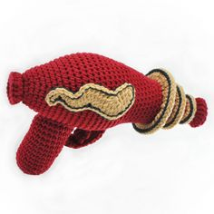 """Raygun crochet pattern by NeedleNoodles 