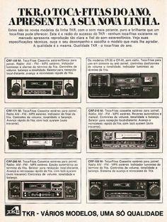 Modelos de rádio da TKR. Muito sucesso na época! Radios, The Old Days, Slot Cars, Car Audio, Chevrolet, Classic Cars, Nostalgia, 1970s, Gadgets