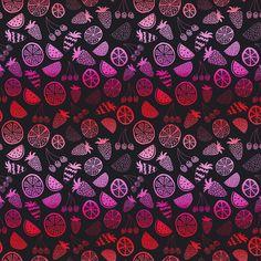 Pink Fruit Removable Wallpaper