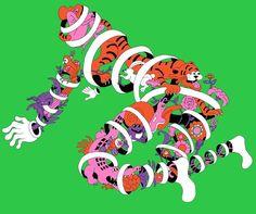 Jungle man - Wakana Yamazaki Japan Graphic Design, Graphic Art, Japan Illustration, My Tea, Illustrators, Design Art, Concept Art, Doodles, Sketches