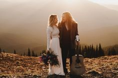 This Olympic National Park elopement features a super intimate guest list, epic golden hour couple portraits, and a seriously stylish bride.