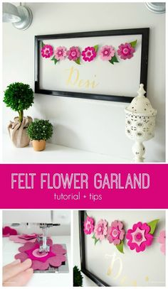 Craftaholics Anonymous® | A abnner of floral perfection. Its and easy tutorial, that creates cute art for any room in your home.
