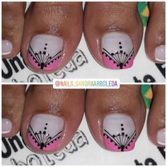 Toe Nail Art, Toe Nails, Purple And Pink Nails, Stylish Nails, Pedicure, Nail Art Designs, Instagram Posts, Instagram Summer, Tattoos