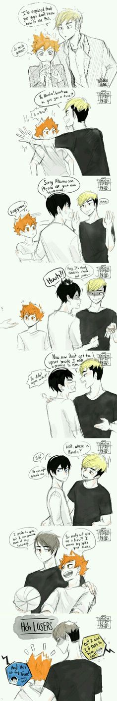 Awww. They all want Hinata to themselves. Kageyama is jealous xD