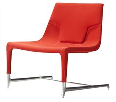 Modena Orange Linen Occasional Chair with Chrome Legs by Casabianca $759