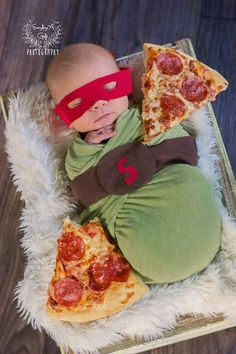 Inspiration For New Born Baby Photography : Newborn Photography. Everydays A Gift Photography. Teenage mutant ninja turtle Inspiration For New Born Baby Photography : Newborn Photography. Everydays A Gift Photography. Halloween Bebes, Newborn Halloween Costumes, Baby Costumes, Halloween Baby Pictures, Diy Halloween, Third Baby, First Baby, Do It Yourself Baby, Baby Kicking