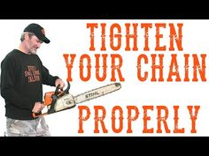 Correct Way To Adjust The Chain Tension On Your Chainsaw - Video - Modern Design Chainsaw Repair, Stihl Chainsaw, Lawn Mower Repair, Lean To Shed, Tree Felling, Chainsaw Chains, Lawn Equipment, Engine Repair, Diy For Men