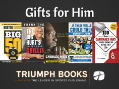 Great gift ideas for him this holiday season. From hockey to grilling to baseball to football, get these great titles from Triumph Books! #bruins #boston #frankthomas #cowboys #49ers #lions #detroit #cardinals #stlouis #books #read #christmas