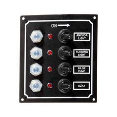 Seasense 5 Way Splash Proof Wave Switch Panel 50031295