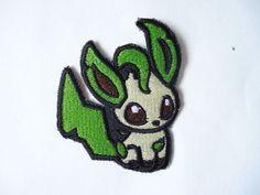 Ein Leafeon Pokémon annähen Maschine gestickt Patch Patches sind ungefähr 3 Zoll…