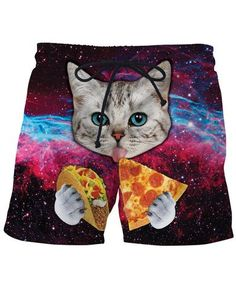 Christmas Cute Cats Kitten Boys Girls Swimming Trunks Beach Board Shorts Fully Lined Quick Dry Vintage Tropical Kids Short Pants