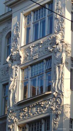 Art Nouveau Building, Vienna, by crowfly vienna