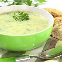 Cream of oat and leek soup Tofu, Smoothie Vert, Potato Leek Soup, Cheeseburger Chowder, Cantaloupe, Mashed Potatoes, Food And Drink, Favorite Recipes, Fruit