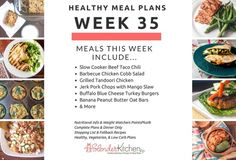 Healthy Meal Planning Made Easy & Week 35 Meal Plan