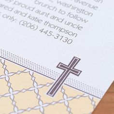 Butter Ripples Baptism Vertical Invitation